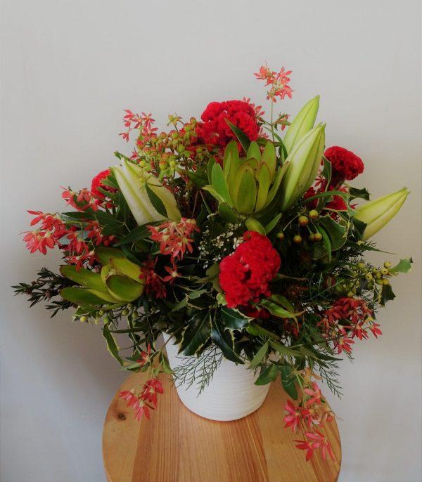festive arrangement, Christmas Special, Christmas arrangement, festive basket
