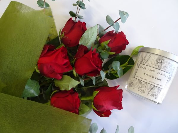 red roses - half dozen, red roses, valentines day, roses, roses delivered tamworth, rose delivery