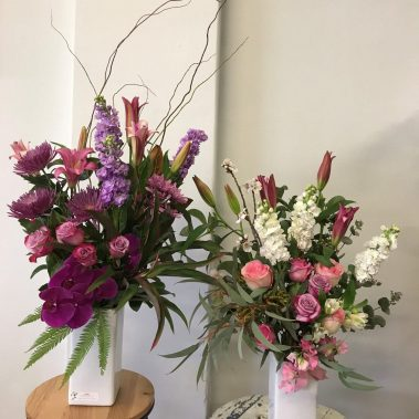 celebration flowers, baby flowers, new baby, flower delivery, pretty pastel, vase arrangement, flowers, baby flowers, tamworth florist, tamworth flowers, botanique, new england florist