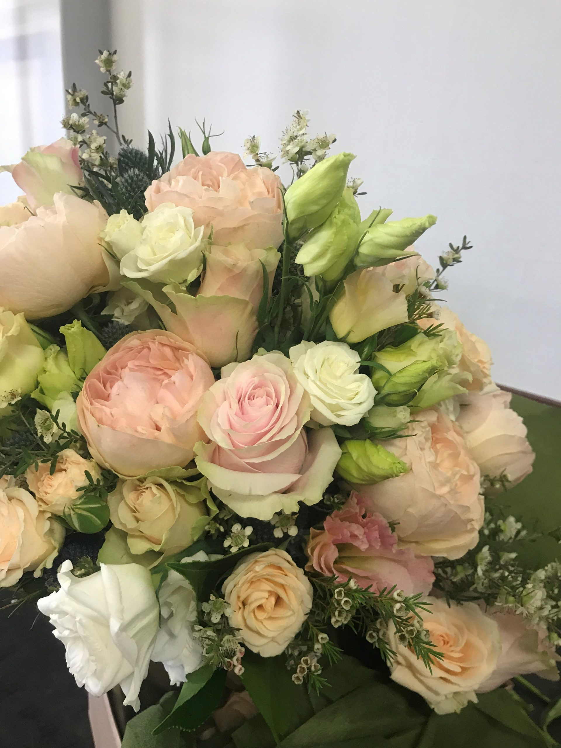 wedding bouquet, tamworth wedding, pastel bouquet, bridal bouquet tamworth, tamworth weddings, tamworth florist, florist tamworth, tamworth wedding florist, rose bouquet, blush bouquet