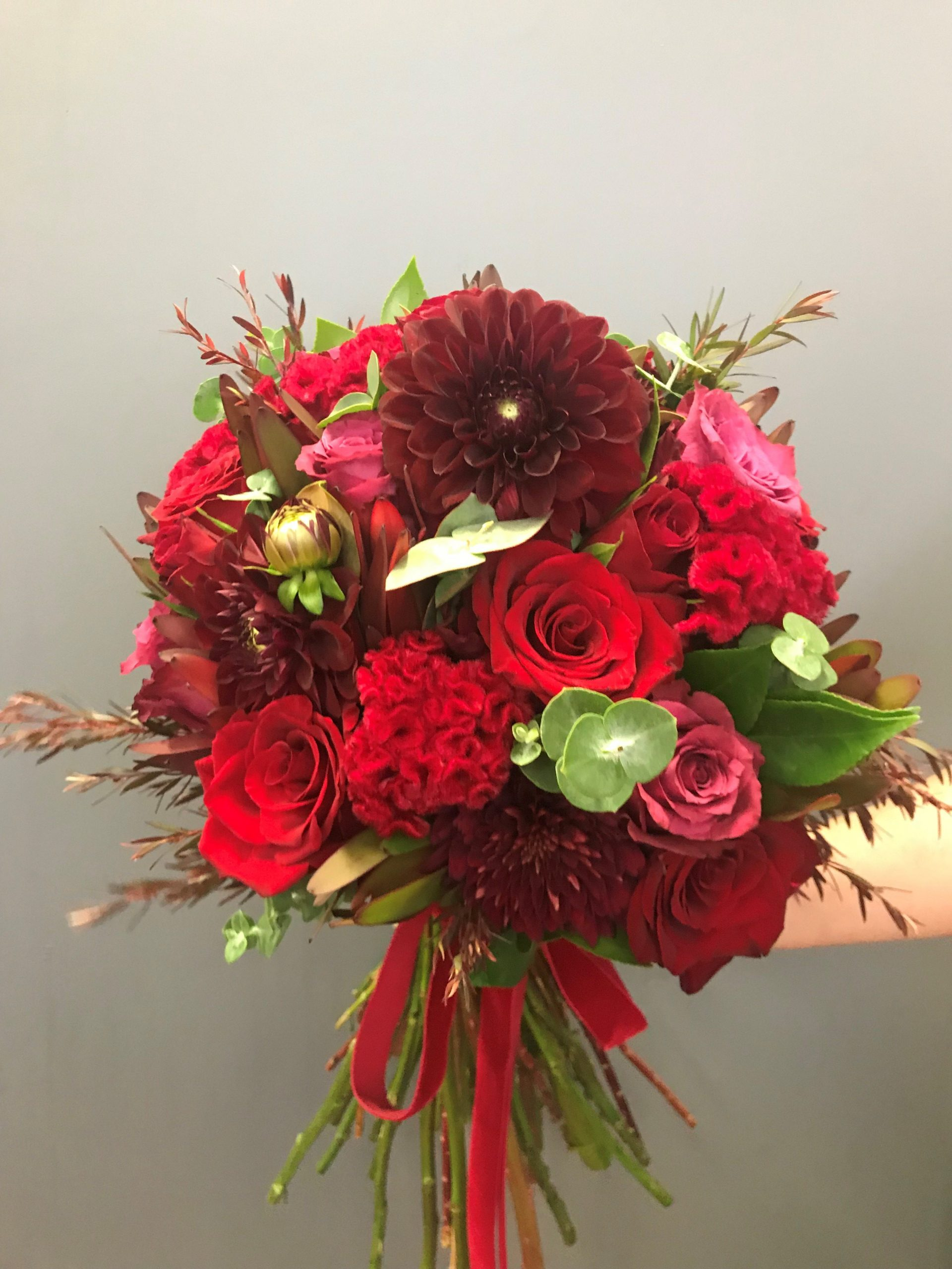 wedding bouquet, tamworth wedding, bridal bouquet, burgundy bouquet, tamworth weddings, tamworth florist, florist tamworth, tamworth wedding florist, boho bouquet, berry bouquet