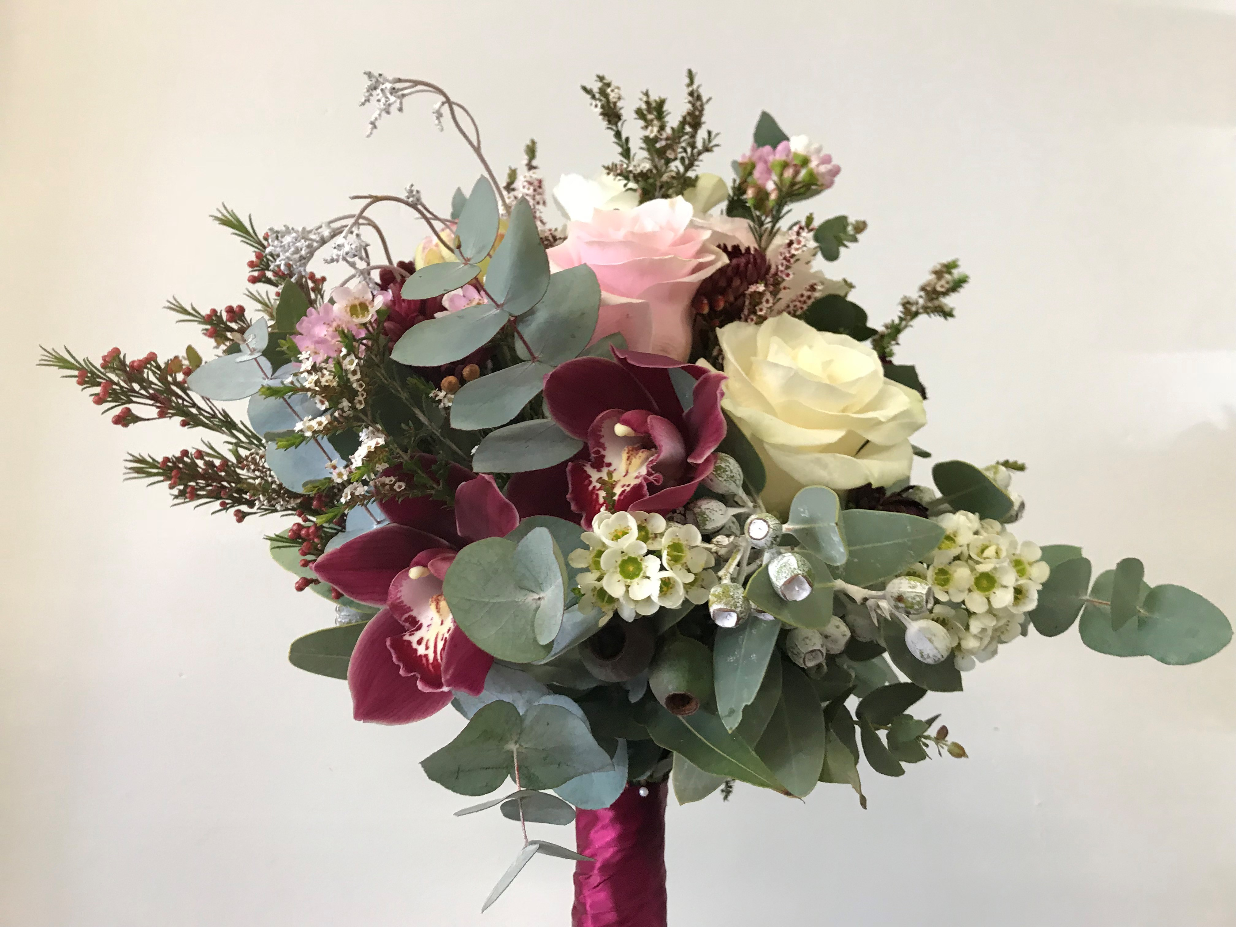 wedding bouquet, tamworth wedding, bridal bouquet, burgundy bouquet, tamworth weddings, tamworth florist, florist tamworth, tamworth wedding florist, boho bouquet, burgundy bouquet, bridesmaid bouquet