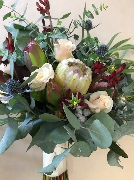 wedding bouquet, tamworth wedding, bridal bouquet, burgundy bouquet, tamworth weddings, tamworth florist, florist tamworth, tamworth wedding florist, boho bouquet, Native bouquet