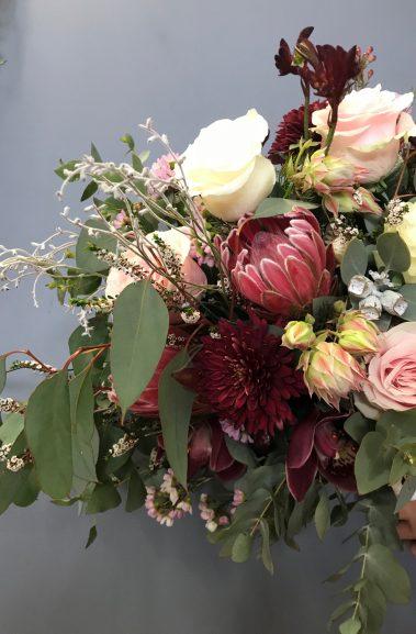 wedding bouquet, tamworth wedding, bridal bouquet, burgundy bouquet, tamworth weddings, tamworth florist, florist tamworth, tamworth wedding florist, boho bouquet, burgundy bouquet, blush bouquet