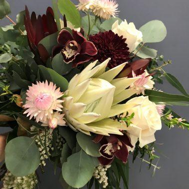 wedding bouquet, tamworth wedding, bridal bouquet, burgundy bouquet, tamworth weddings, tamworth florist, florist tamworth, tamworth wedding florist, boho bouquet