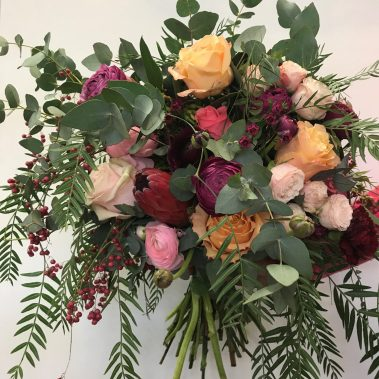 wedding bouquet, tamworth wedding, bridal bouquet, burgundy bouquet, tamworth weddings, tamworth florist, florist tamworth, tamworth wedding florist, boho bouquet, Pantone bouquet