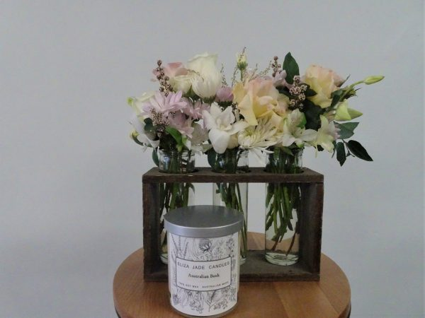 flower bottles, flower, flowers, flower gift, flower delivery, tamworth flowers, tamworth florist, tamworth florist shop, flower shop tamworth, designer bunches, flowers, florist, gift, flowers and candle