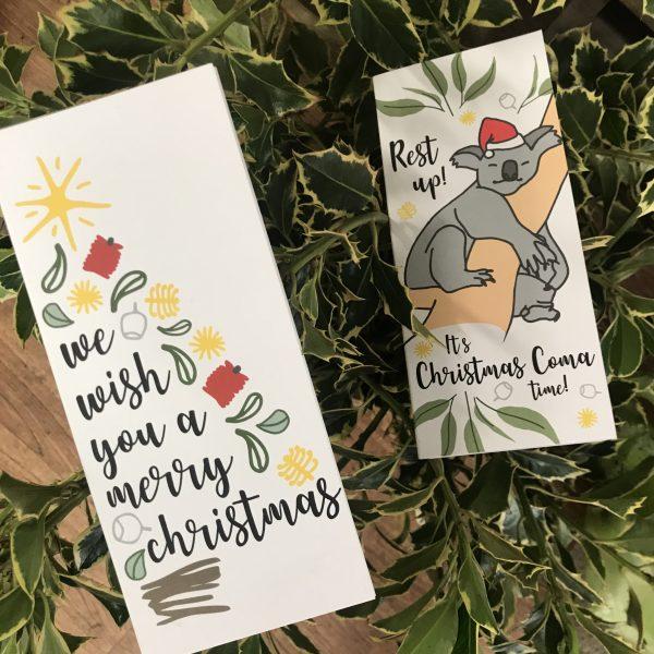 chocolate cards, Christmas card,, Chocolate Christmas Card