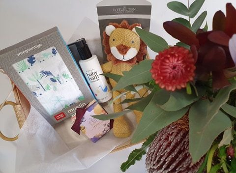 baby boy bundle, baby blooms and gift, baby bundle, baby boy, its a boy, baby gift, baby delivery, flower delivery, flower delivery tamworth, tamworth flowers, tamworth florist, baby gift